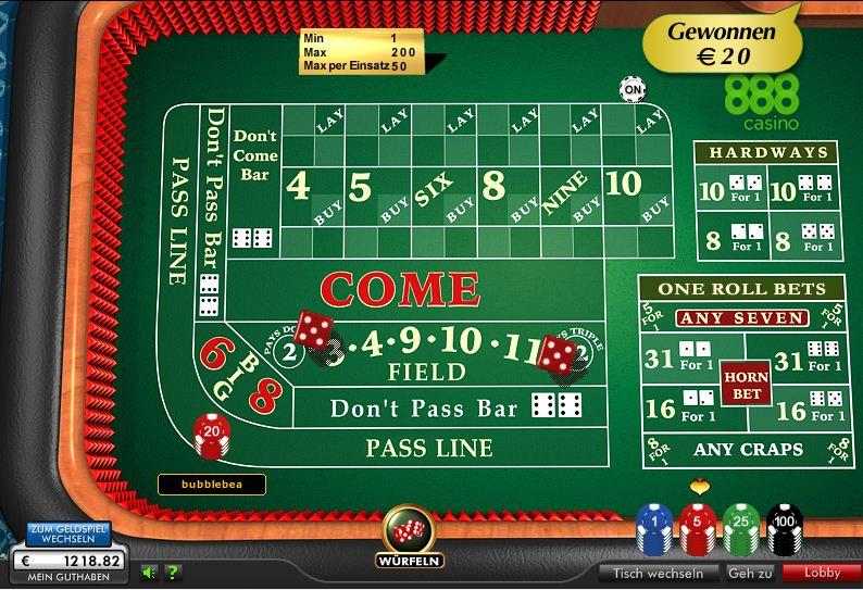 Craps im casino